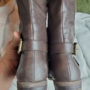 Rampage Shoes - Rampage Women's Tall Riding Boots, Brown Size 8.5
